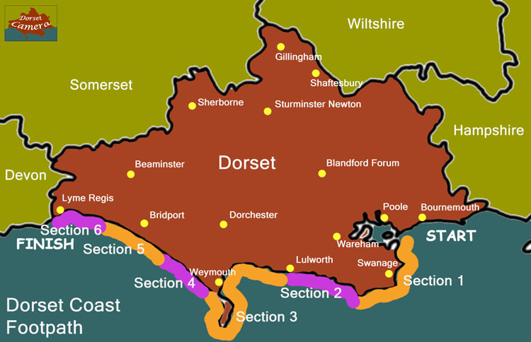 dorset coast path map Dorsetcamera